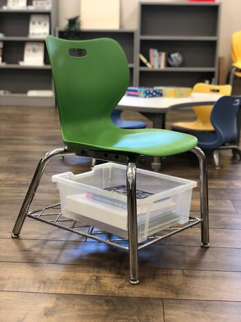 alphabet chair with bookrack
